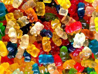 colorful haribo jelly bear gummybears