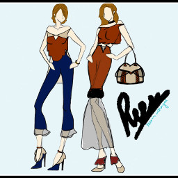 my sketch drawing design outfit