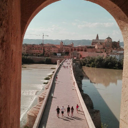 spain cordoba andalucia mezquita bridge river