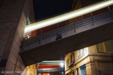 funicular interesting lights longexposure vitesse