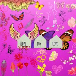 FreeToEdit hope joy love letters