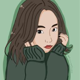 followcookie asiangirl draw koreangirl eyes