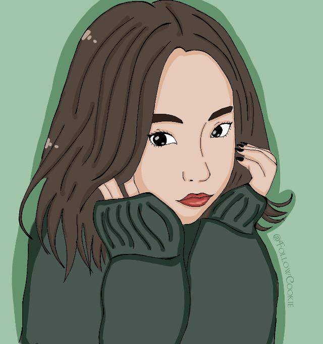 #FollowCookie #Asiangirl #draw #koreangirl #eyes  Hello 💕