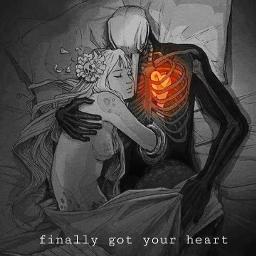 creepy human heart feelings love