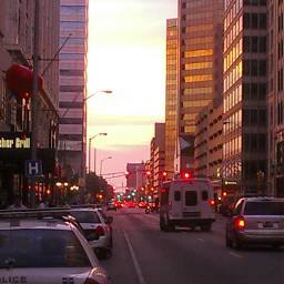 photography downtownindy colorful people sunset