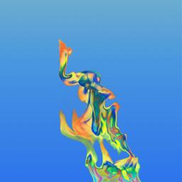 freetoedit remix colors blue fire
