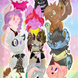 grouppic friends friendship colorful digitalart