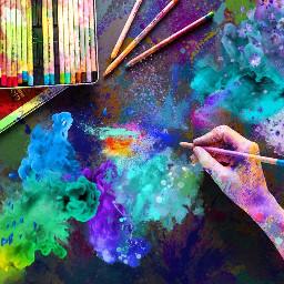 FreeToEdit explosion color colorsplash splatter