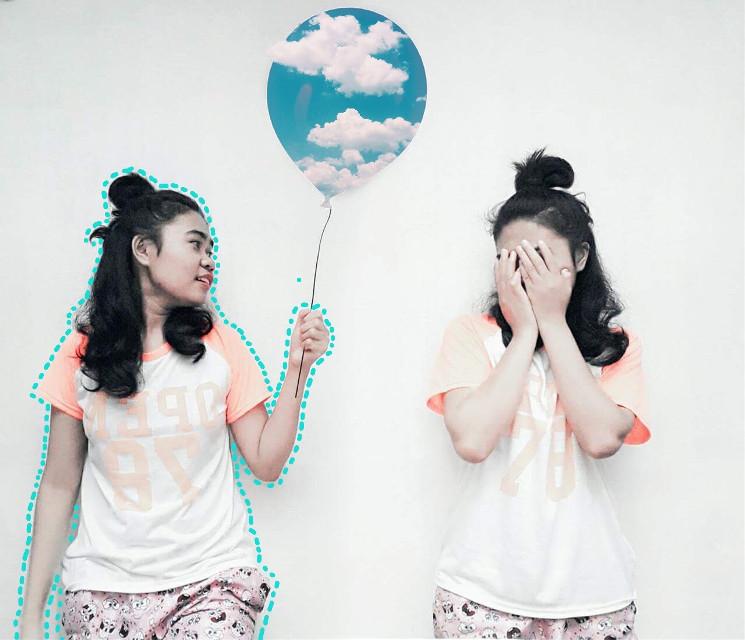 #FreeToEdit #surreal #balloon #sky