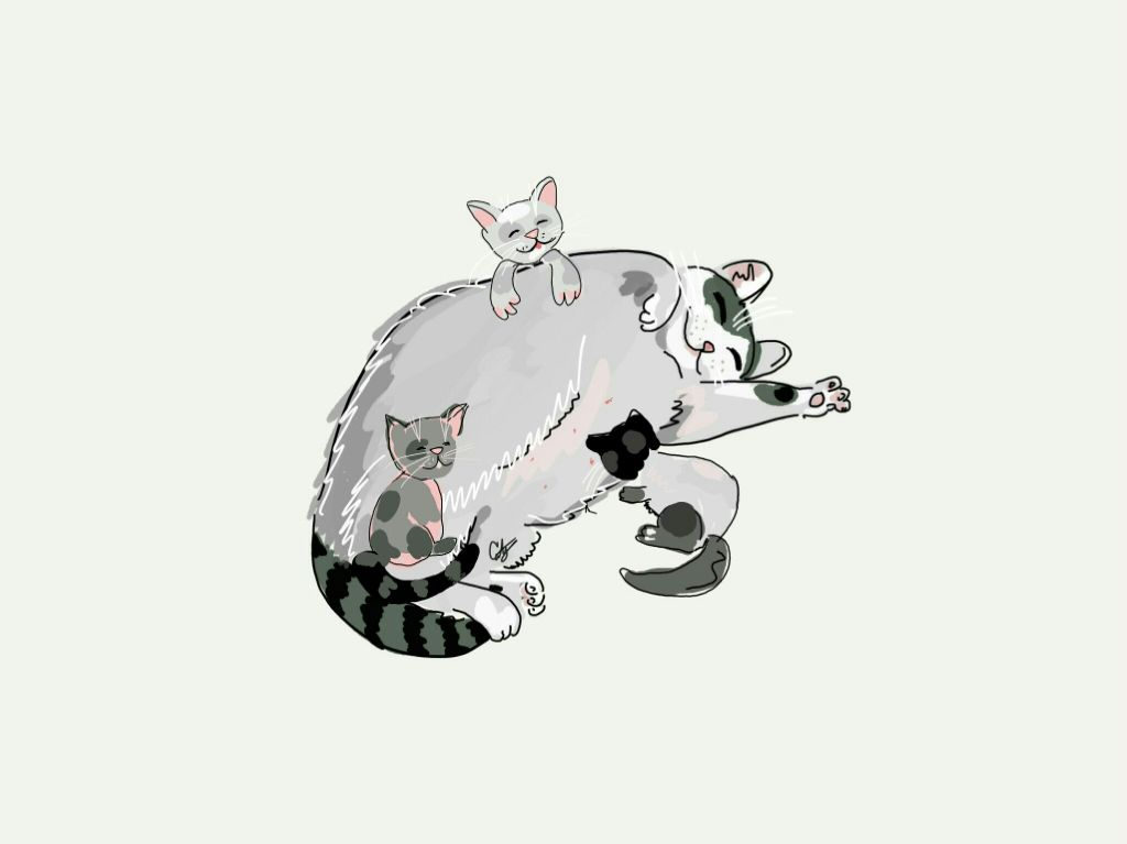 #FreeToEdit  #remixed o.p @cristiantg1  #drawing #cat #family  #love #quotesandsayings #sweet #happy #draw #art #cute #colorsplash #colorful