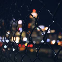 mycity nightlights fences lights bokeh
