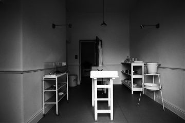 hospital museum blackandwhite austerity