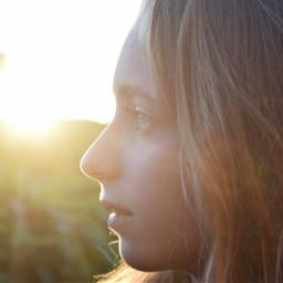 child girl light sun portrait