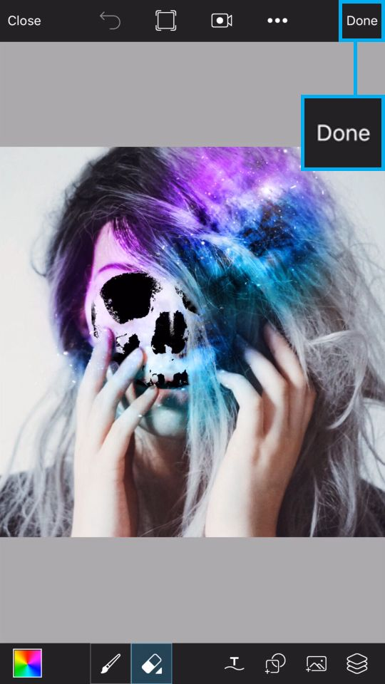 PicsArt Tutorial - Galaxy Skull 19