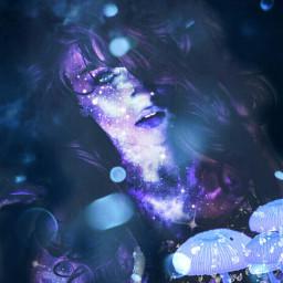 universe stars light mushroom glowing