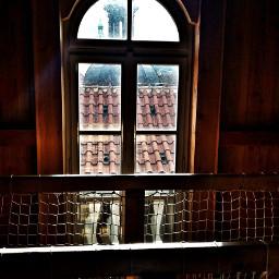 prague art window view light