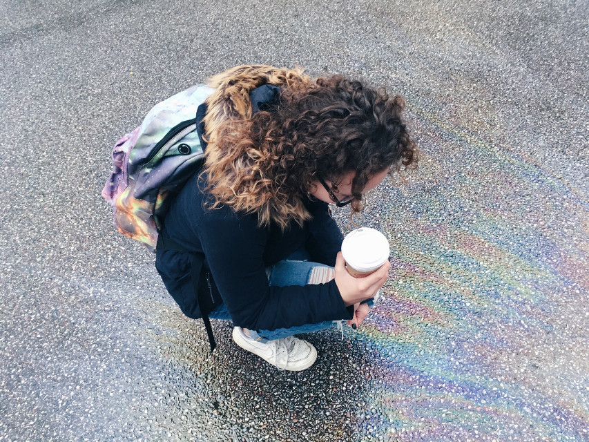 Coffee, jeans and curly hair #me #interesting #art #cute #people #photography #love #rain #beautiful #vsco #iphone #autumn #fall #coffee #emotions #unicorn #happy #girl #FreeToEdit