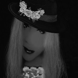 fashioncutouts flowerheadband blackandwhite lovely me