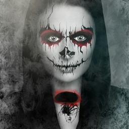 wapcostume frightening woman frostmask darkangel