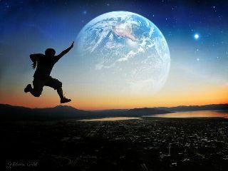 surrealismus emotions freedom space night
