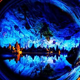 freetoedit water beautiful cave reflection