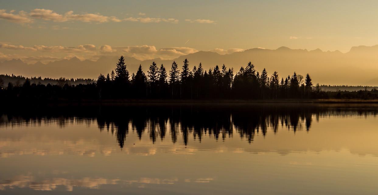 Nature Frequency #sunset #reflection #minimalism #sky #lake #freetoedit