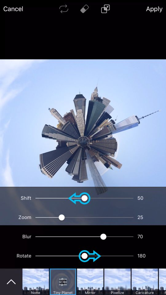 How to Make a Tiny Planet Effect Photo on PicsArt