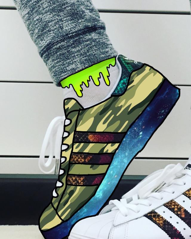 Boring... #FreeToEdit #galaxyedit #adidas #adidassuperstar #grimeedit #sneakers #camuflage