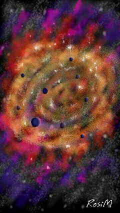 galaxy stars colorful wdpgalaxy