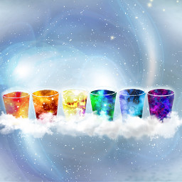 FreeToEdit stars colorful rainbow galaxy