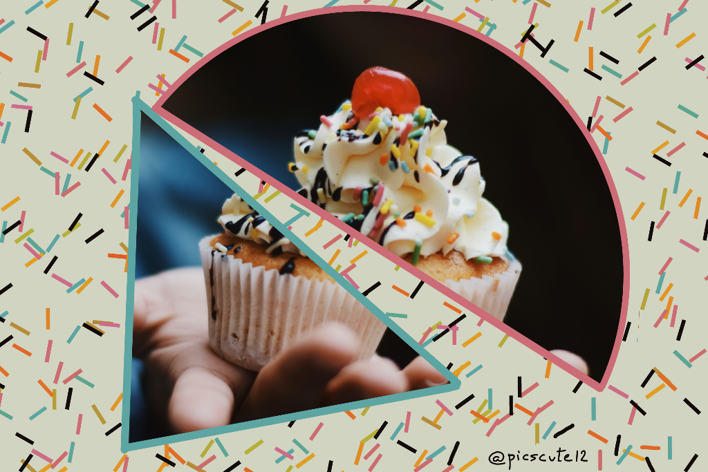 Do u want a cupcake?   #freetoedit #cupcake #slices #hand #offer #sweet #cream #cherry #cake #tumblr #cute #shapes #editedbyme #granulated  #wapsliced