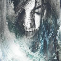 waves people sea hair water