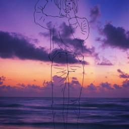 followcookie draw sunset sky sun