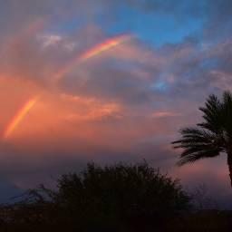 rainbow sky beautifulworld