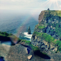 sun cliff cliffofmoher rainbow remixit freetoedit