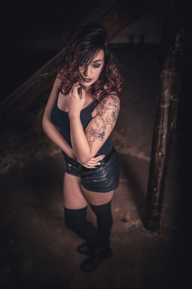 At the attic #sexy #model #shooting #girl #girlswithtattoos #girls #redhair #red #beauty #canon #sigma