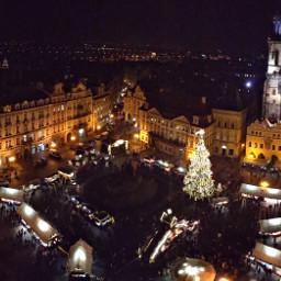 prague christmas christmastree christmaslights lights
